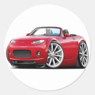 2006-08 Miata Red Car Classic Round Sticker