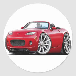 2006-08 Miata Red Car Round Sticker