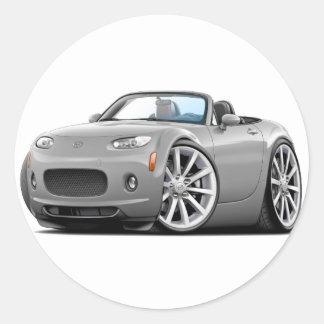 2006-08 Miata Silver Car Round Sticker