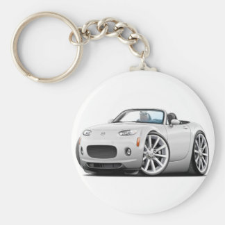 2006-08 Miata White Car Keychain