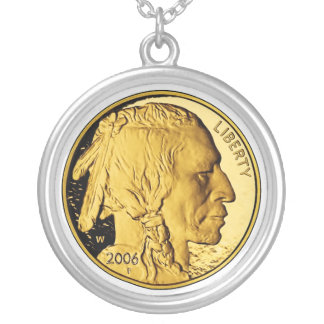 2006 American Buffalo Proof Gold Bullion Coin Silver Plated Necklace