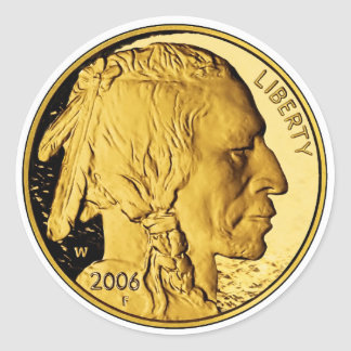 2006 American Buffalo Proof Gold Bullion Coin Round Stickers