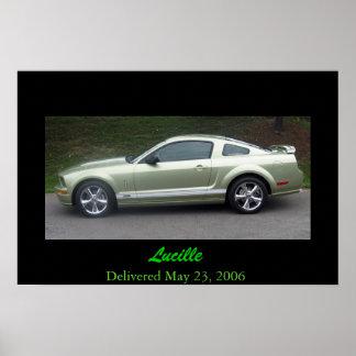 2006 Legend Lime Mustang GTA Poster