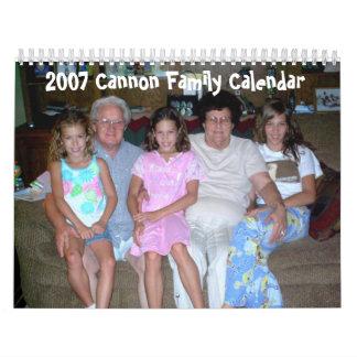 2007 Cannon Family Calendar
