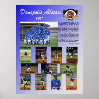 2007 Demopolis All Stars Poster