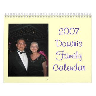2007 Douvris Family Calendar