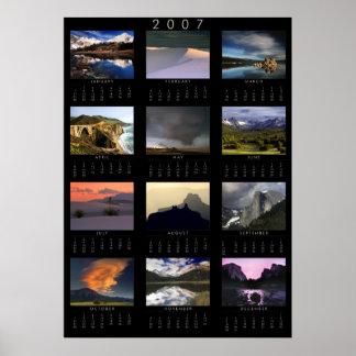 2007 Landscape Photograpy Calendar Poster