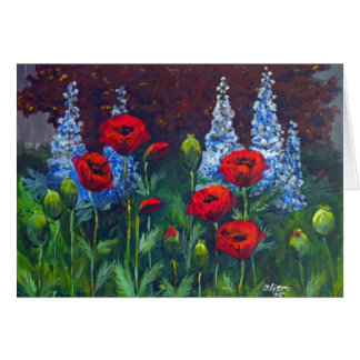 2007_Poppies_Delphiniums Card