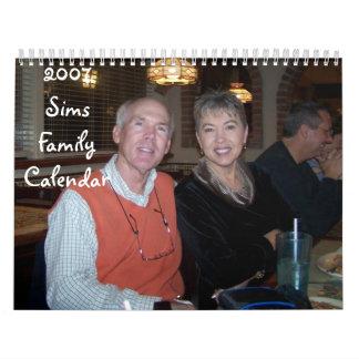 2007 Sims Family Calendar