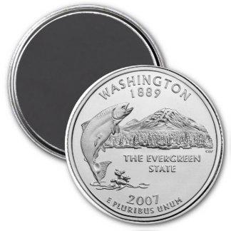 2007 Washington State Quarter 3 Inch Round Magnet