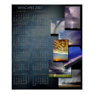 2007 Weather Photograpy Calendar Poster