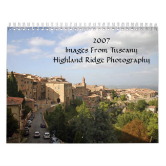 2007Images From TuscanyHighland Ridg... Calendar