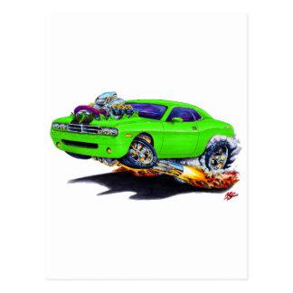 2008-10 Challenger Green Car Postcard