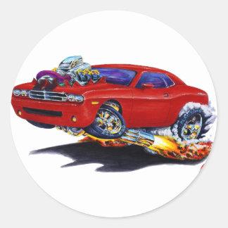 2008-10 Challenger Maroon Car Classic Round Sticker