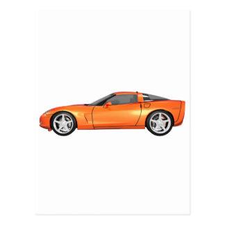 2008 Corvette: Sports Car: Orange Finish: Postcard