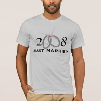 """""""2008 Just Married"""" T-Shirt"""