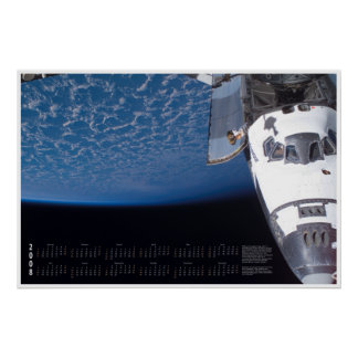 2008 Space Shuttle Calendar Poster