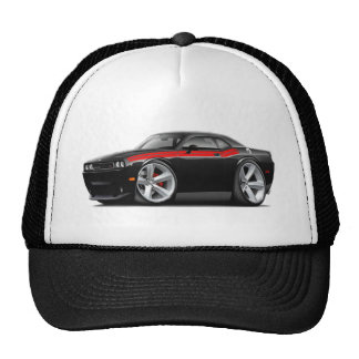 2009-11 Challenger RT Black-Red Car Trucker Hat
