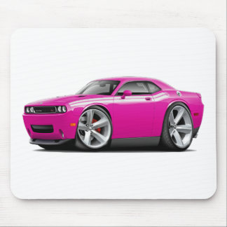 2009-11 Challenger RT Fuschia-White Car Mouse Pad