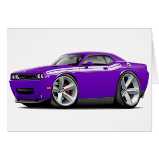 2009-11 Challenger RT Purple-White Car Card