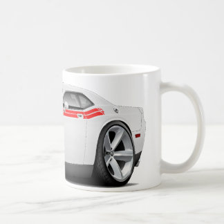 2009-11 Challenger RT White-Red Car Coffee Mug