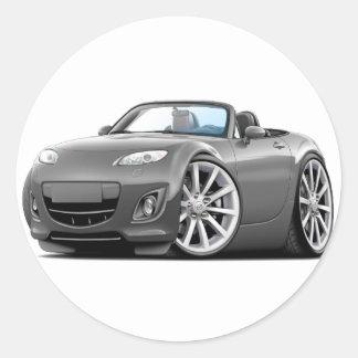 2009-13 Miata Grey Car Round Sticker