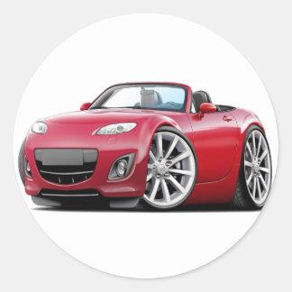 2009-13 Miata Red Car Classic Round Sticker