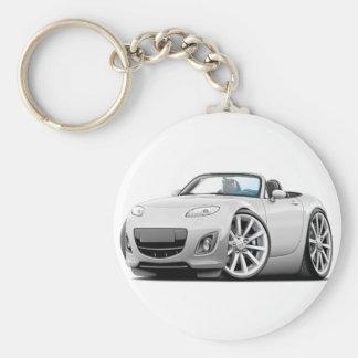 2009-13 Miata White Car Keychain