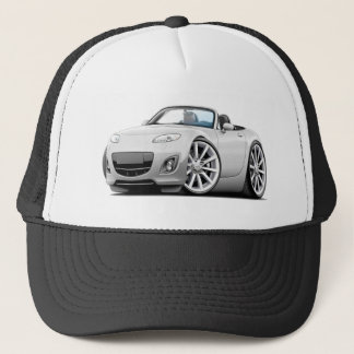 2009-13 Miata White Car Trucker Hat
