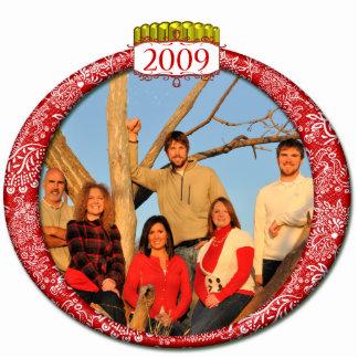 2009 Family Photo Christmas Ornament Photo Sculpture Ornament