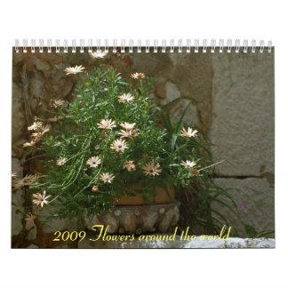 2009 Flowers Wall Calendars