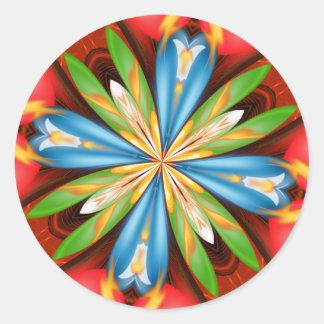 2009 Kaleidoscope Series Classic Round Sticker