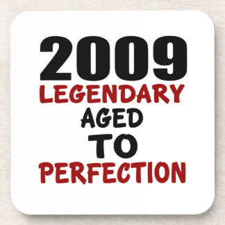 2009 LEGENDARY AGED TO PERFECTION BEVERAGE COASTERS