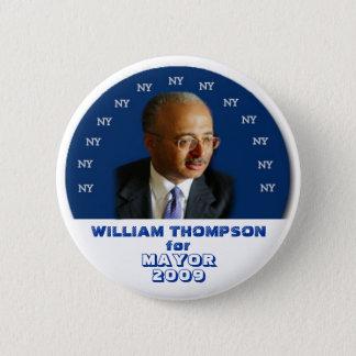2009 NY Mayor Bill Thompson Pin