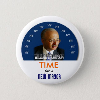 2009 NY Mayor William Thompson pin