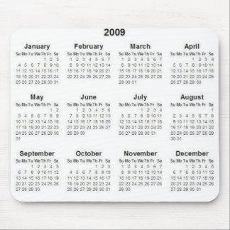 2009calendar mouse pad