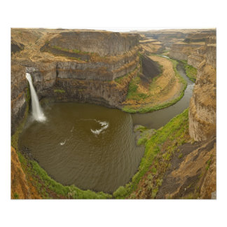 200 foot high Palouse Falls State Park in Art Photo