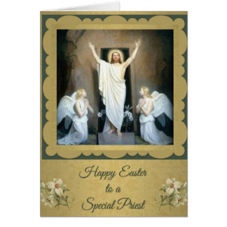 200 Happy Easter to a Catholic Priest Card