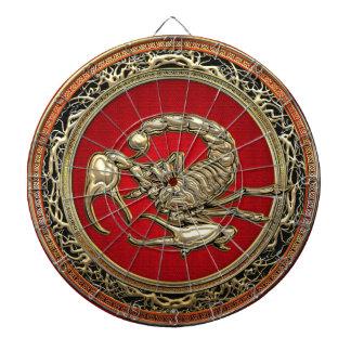 [200] Sacred Golden Scorpion on Red Dartboard