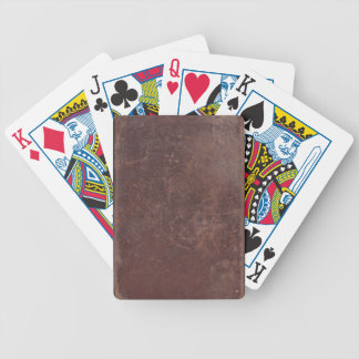 200 Year Old Leather Book Cover Poker Deck