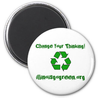 200px-Recycle001.svg, Change Your Thinking!, il... Magnet