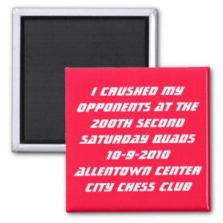 200th Allentown Quads Square Magnet