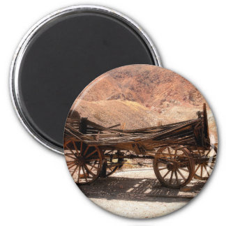2010-06-28 C Calico Ghost Town (53)old_wagon 2 Inch Round Magnet