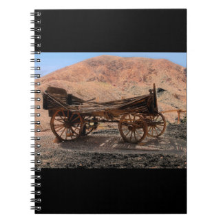 2010-06-28 C Calico Ghost Town (53)old_wagon Spiral Notebook