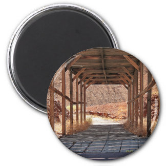 2010-06-28 C Calico Ghost Town (60)wooden_tunnel.j 2 Inch Round Magnet