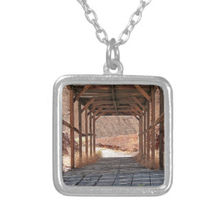 2010-06-28 C Calico Ghost Town (60)wooden_tunnel.j Silver Plated Necklace