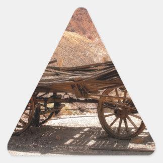 2010-06-28 old_wagon de la ville fantôme de sticker triangulaire