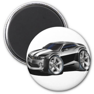 2010-11 Camaro Black-White Car 2 Inch Round Magnet