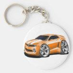 2010-11 Camaro Orange-White Car Basic Round Button Keychain