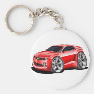 2010-11 Camaro Red Car Basic Round Button Keychain